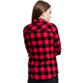 URBAN CLASSICS női ing - Turnup Checked Flannel, URBAN CLASSICS