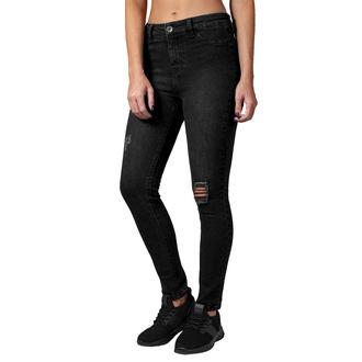URBAN CLASSICS Női nadrág - High Waist - fekete mosott, URBAN CLASSICS