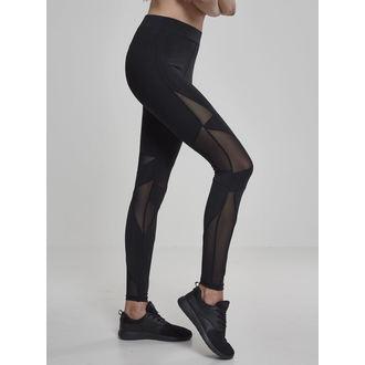 URBAN CLASSICS Női leggings nadrág - Triangle Tech Mesh - blk / blk, URBAN CLASSICS