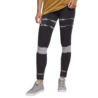 URBAN CLASSICS Női leggings nadrág - Tie Dye Biker - blk / lt.grey, URBAN CLASSICS