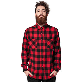 URBAN CLASSICS Férfi ing - Checked Flanell, URBAN CLASSICS