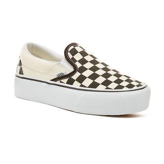 rövidszárú cipő női - UA CLASSIC SLIP-ON P Blk WhtCh - VANS, VANS