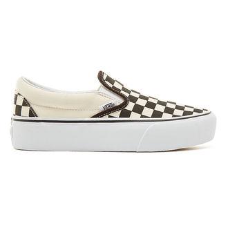 rövidszárú cipő női - UA CLASSIC SLIP-ON PLATFORM Blk WhtCh - VANS, VANS
