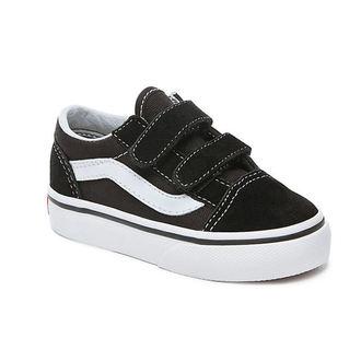 rövidszárú cipő gyermek - UY OLD SKOOL V Black/True White - VANS, VANS