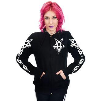 kapucnis pulóver női - DRIPPY 666 & PENTAGRAM - TOO FAST, TOO FAST