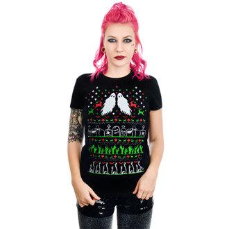 gót és punk póló női - GRAVE ROBBER ZOMBIE XMAS VS HALLOWEEN BABYDOLL CHR - TOO FAST, TOO FAST