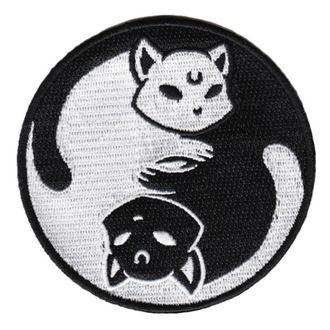 KILLSTAR Rávasalható felvarró (tapasz) - Yin Yang - FEKETE, KILLSTAR
