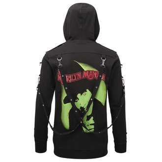 KILLSTAR Unisex kapucnis pulóver - Marilyn Manson - Smells Like Manson - Fekete