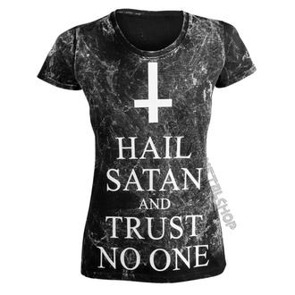 hardcore póló női - HAIL SATAN AND TRUST NO ONE - AMENOMEN, AMENOMEN