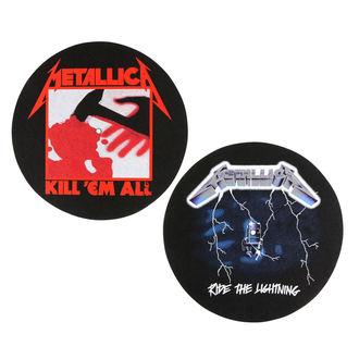 METALLICA  Bakelit Lemez alakú alátét(2 darab) - KILL EM ALL - LOVAGOL A könnyít - RAZAMATAZ, RAZAMATAZ, Metallica