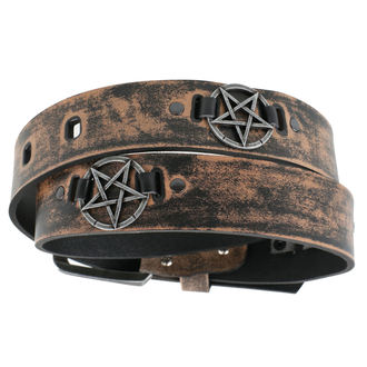 Pentagram Öv - brown, JM LEATHER