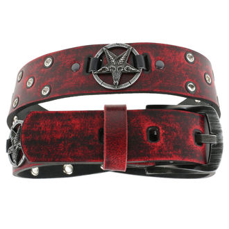 Öv Baphomet - red, JM LEATHER