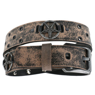 Öv Baphomet - brown, Leather & Steel Fashion