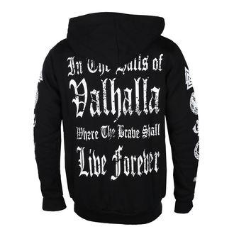 kapucnis pulóver férfi - I AM A WARRIOR - VICTORY OR VALHALLA, VICTORY OR VALHALLA