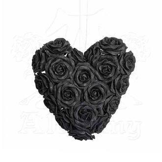 ALCHEMY GOTHIC Dekoráció - Black Rose Heart, ALCHEMY GOTHIC