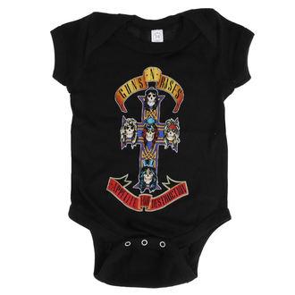 Guns N' Roses Gyermek ruha - AFD CROSS ONESIE - FEKETE - BRAVADO, BRAVADO, Guns N' Roses