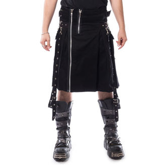 CHEMICAL BLACK Férfi skót szoknya - CARL - FEKETE, CHEMICAL BLACK