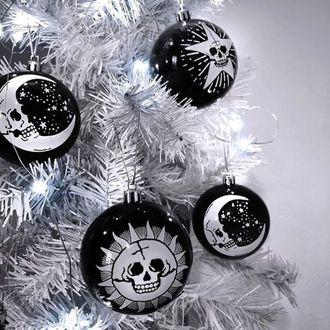 KILLSTAR Karácsony dekoráció (golyók) - Hexmas - Fekete, KILLSTAR