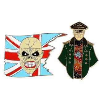 Iron Maiden Kitűző - Legacy of the Beast -  Kapitány  Eddie & Tábornok, Iron Maiden