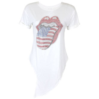 metál póló női Rolling Stones - RS USA BLING TONGUE WHITE - PLASTIC HEAD, PLASTIC HEAD, Rolling Stones
