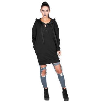 kapucnis pulóver női - BLACK - AMENOMEN, AMENOMEN