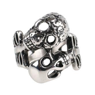ETNOX Gyűrű - Double Skull, ETNOX