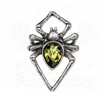 ALCHEMY GOTHIC Gyűrű - Emerald Venom