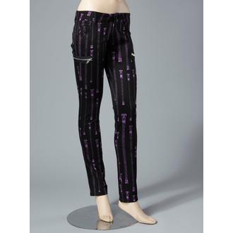 nadrág női HELL BUNNY - Zipper Skinny Jeans (Purple), HELL BUNNY