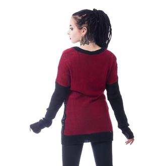 HEARTLESS Női pulóver - FRACTION - FEKETE / PIROS, HEARTLESS