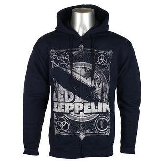 kapucnis pulóver férfi Led Zeppelin - Navy - NNM, NNM, Led Zeppelin