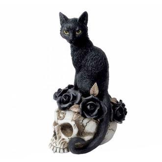 ALCHEMY GOTHIC Dekoráció - Black Cat & Skull, ALCHEMY GOTHIC