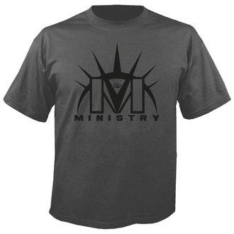 metál póló férfi Ministry - Logo GREY - NUCLEAR BLAST, NUCLEAR BLAST, Ministry
