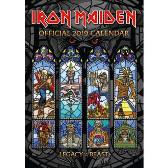 2019 Naptár IRON MAIDEN, NNM, Iron Maiden