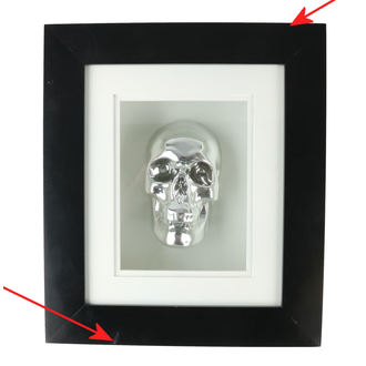 Kép Silver Skull In Frame - B0330B4 - DAMAGED