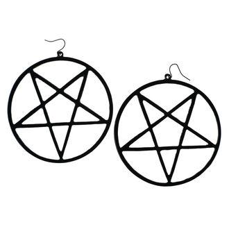 Luciferothica Fülbevaló - Huge Inverted Pentagram - Fekete, LUCIFEROTHICA