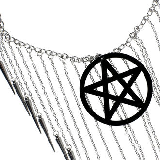 Luciferothica Nyaklánc - Pentagram Black, LUCIFEROTHICA