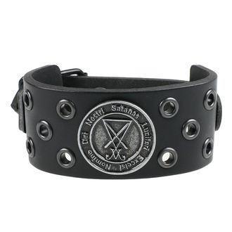 Luciferi Karkötő - ring black, Leather & Steel Fashion