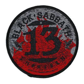 BLACK SABBATH Felvarró - 13 FLAMES CIRCULAR - RAZAMATAZ, RAZAMATAZ, Black Sabbath