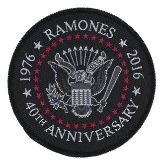 RAMONES felvarró - 40TH ANNIVERSARY - RAZAMATAZ, RAZAMATAZ, Ramones