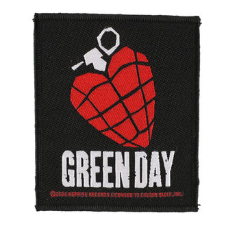 GREEN DAY felvarró - HEART GRENADE 1 - RAZAMATAZ - SP2918