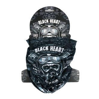 BLACK HEART Nyak melegítő - PISTON SKULL - FEKETE, BLACK HEART