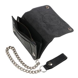 BLACK HEART pénztárca - BASTARD SKULL - FEKETE, BLACK HEART