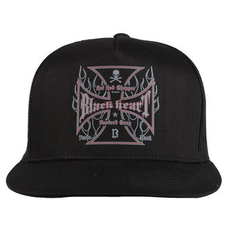 BLACK HEART sapka - HOT ROD FLAMES - FEKETE, BLACK HEART
