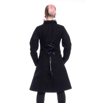 Női Kabát POIZEN INDUSTRIES - NIGHT PARADE - FEKETE, POIZEN INDUSTRIES