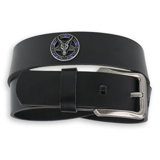 Baphomet Öv - Black krystal - kék, Leather & Steel Fashion
