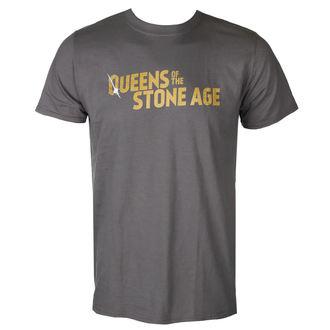 metál póló férfi Queens of the Stone Age - TEXT LOGO (METALLIC) - PLASTIC HEAD, PLASTIC HEAD, Queens of the Stone Age
