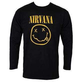 tričko pánské s dlouhým rukávem NIRVANA - SMILEY LOGO - PLASTIC HEAD, PLASTIC HEAD, Nirvana