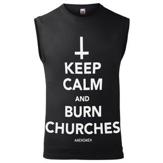 AMENOMEN Férfi felső - KEEP CALM AND BURN CHURCHES, AMENOMEN