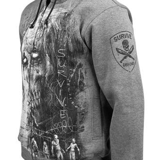 kapucnis pulóver férfi - Zombie Defand Surive - ALISTAR - BSZP-2439
