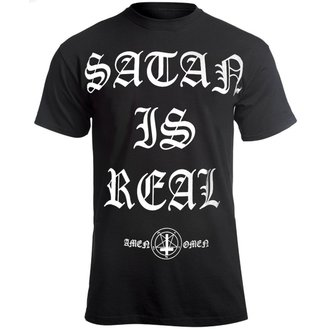 hardcore póló férfi - SATAN IS REAL - AMENOMEN, AMENOMEN